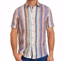 Robert Graham Szs South Dakota Classic Fit Short Sleeve Linen Shirt Mult