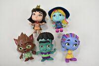 "Lot of 5 Super Monsters Zoe Cleo Lobo Frankie Katya 4"" Hasbro Figures"