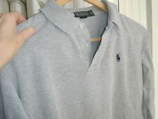 Authentic Polo by Ralph Lauren 100% Cotton Grey Shirt Top Boys' Size 18