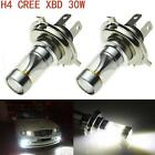 2X 30W Cree H4 9003 LED Headlight Hi Lo Beam 600LM Motorcycle 6000K White Bulbs