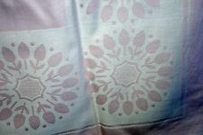 Zart Rosa Damast Tischdecke Tischtuch mit Einwebmuster 130 x 160 cm wie Neu