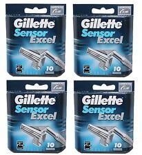 40x Gillette Sensor Excel 40er Ecxel Gilette Gilete Gilette 4x 10er razor blades