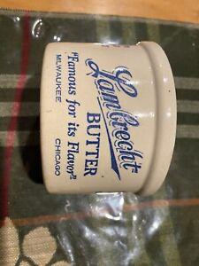 Advertising Lambrecht Butter Crock  Milwaukee - Chicago