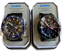 Casio NEW MRW400H Multi-Dial Rotating Bezel 100M WR- Black With Silver Or Blue