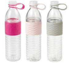 Copco Hydra Water Bottle BPA Free Plastic 20 Oz Pack Of 3, Pink Gray Baby Pink