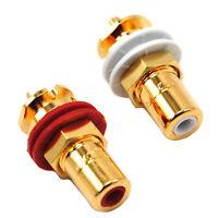 2pcs Original CMC 816-U Oxygen-free Gold Plated Conductor RCA Terminal Sockets