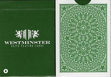 Westminster Playing Cards Poker Size Deck USPCC Green Custom Limited Edition New