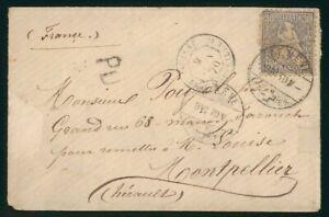 Mayfairstamps Switzerland 1870 Geneva to Montpellier Cover wwo88995