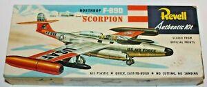 1955 Vintage REVELL H-221-89 NORTHROP F-89D SCORPION FIGHTER JET Model Kit~MIB