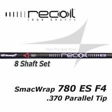 8 Shaft Set - UST Recoil 780 ES SmacWrap Black F4 Stiff Flex .370 Parallel Tip
