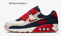 "Nike Air Max 90 Premium ""Sail/Midnight N"" Men's Trainers Limited Stock All Sizes"