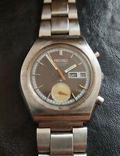 New listing Vintage Seiko 6139-8020 Automatic Chronograph Watch Dial Brawn DateDay Keep Time