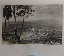 ITALIA. FIRENZE, FLORENCE. GRABADO ORIGINAL DE HAKEWILL, 1820