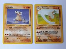 Pokemon Cards x2 Rare Cubone Marowak Fossil Base Pack 1990s Collection New Gift