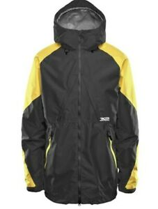 ThirtyTwo LASHED INSULATED 15K Mens Zip Front Snowboard Jacket L Black Gold NEW