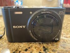 Sony Cyber-shot Exmor R 18.2 MP Digital Camera (DSC-WX350) -Black Case & Battery