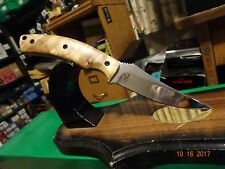 "BROWNING CUTLERY 8"" FIXED BLADE KNIFE 440 STAINLESS BLADE RAZIWOOD HANDLE AWESOM"