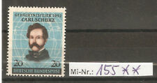 Bundesrepublik Mi-Nr.. 155  Carl Schurz 1952 sauber postfrischer Wert