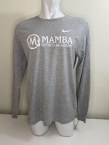 Nike Mamba Sports Academy Kobe Bryant NBA Gray Long Sleeve T-shirt Large Dri Fit