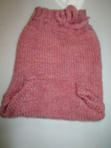 """Baby Diaper Cover Wool Soaker Wool Hand Knit Prewashed Lanolized Pink 16"""""""
