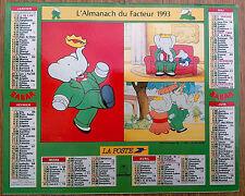 calendrier almanach Babar 1993 Oberthur La Poste