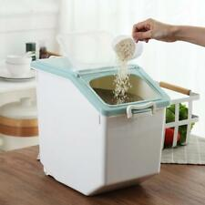 Large Cereal Dispenser Storage Box Kitchen Food Grain Rice Containers Case Box