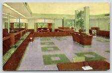 Wauwatosa Wisconsin~Wauwatosa State Bank Lobby~Typewriter Desk~Ashtray~c1950 PC