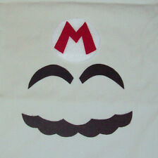"Handmade Super MARIO Costume Face Pieces & Letter ""M"" Emblem for Hat"