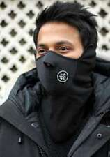 Black Winter Sports, Motorcycle, Bicycle, Ski Mask, FaceMask, Covers Neck & Ears