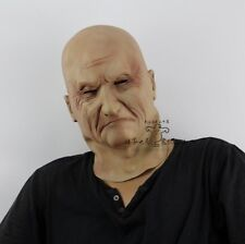 Realistic Latex Old Man Mask Wrinkled Overhead Fancy Halloween dress Scary Mask