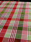 """vintage Chessnut Lane Cotton Christmas red white and green tablecloth 40 x 114"""""""