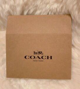 NEW Coach Gift Brown Box Black Logo