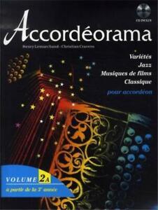 Accordéon ;Recueil de partition  Accordéorama volume 2a + CD