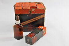 11 Pennsylvania Glass Products Dropper Stopper Bottles Amber Glass 1930's RX