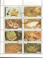 Staffa Local Butterflies & Moths Souvenir Sheet Of 8. Cancelled.  #02 STAFFABM