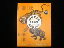 1945 World Series Program Chicago Cubs @ Detroit Tigers - Scored