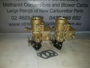 RECO STROMBERG PAIR OF CARB BXUV-2 GOLD SUIT HOLDEN 6 RED MOTOR 68mm SPACING