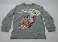 Carter's Firetruck Hero Long Sleeve Grey Boy's Size 4T New with Tags 161347 0717