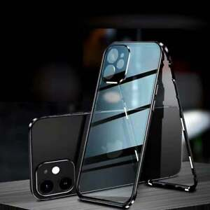 For iPhone 12   12 PRO MAX   12 MINI Case 360 Front & Back Magnetic Glass Cover