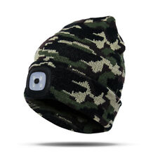 Unisex Fashion Winter Hat Beanie Hat With LED Light Outdoor Camping Kintted Hats