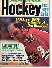 1972 Action Sports Hockey Magazine Bobby Hull, Chicago Blackhawks, Bobby Orr
