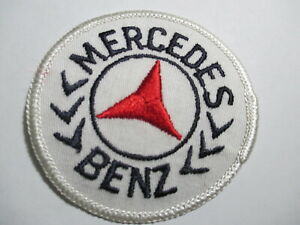 Mercedes Benz  Patch Vintage Original RARE NOS 3 x 3 INCHES Embroidered