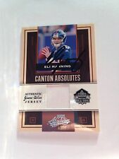 Eli Manning Autographed 2007 Canton Absolutes JERSEY #111/200 w/COA VERY RARE