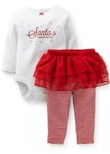 "Carter's baby Girls ""Santa's Sweetheart"" 2 Piece Christmas Tutu Set Size 6Months"