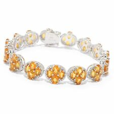 """Victoria Wieck Collection Sterling Silver 7.25"""" 17.55ctw Citrine Bracelet"""