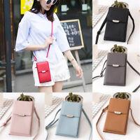 PU Fashion Crossbody Mobile Phone Shoulder Bag Pouch Case Handbag Purse Wallet