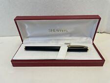 Sheaffer White Dot Matte Black Fountain Pen with Box - USA - 14K? - Vintage