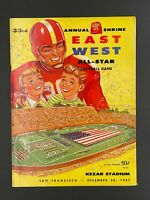 1957 EAST WEST ALL STAR SHRINE COLLEGE FOOTBALL PROGRAM  (TOM FLORES  RAIDERS)
