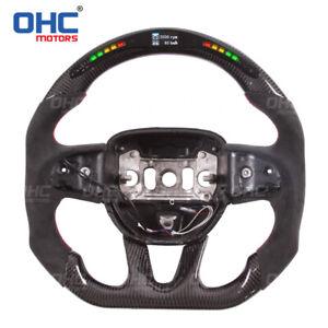LED Performance Carbon Fiber Steering Wheel for Dodge Charger Challenger Durango