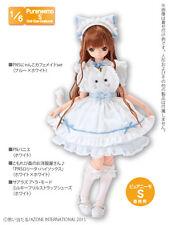 Azone Pureneemo PNS Cat Cafe Maid Set Blue x White Momoko Doll Pullip Obitsu